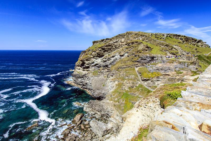 Tintagel, les Cornouailles, Angleterre photo stock