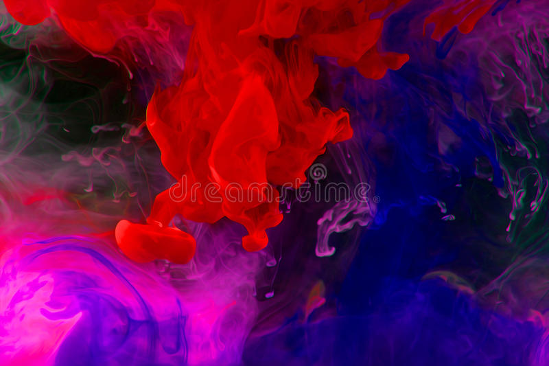 Tintas en agua imagen de archivo libre de regalías