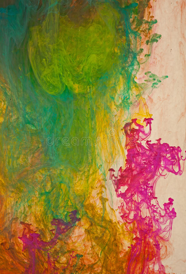 Tinte, die in Flüssigkeit wirbelt lizenzfreies stockbild