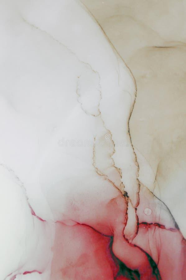 Tinte, Farbe, abstrakt Bunter abstrakter Malereihintergrund Hoch-strukturierte Ölfarbe Deta der hohen Qualität stockbild