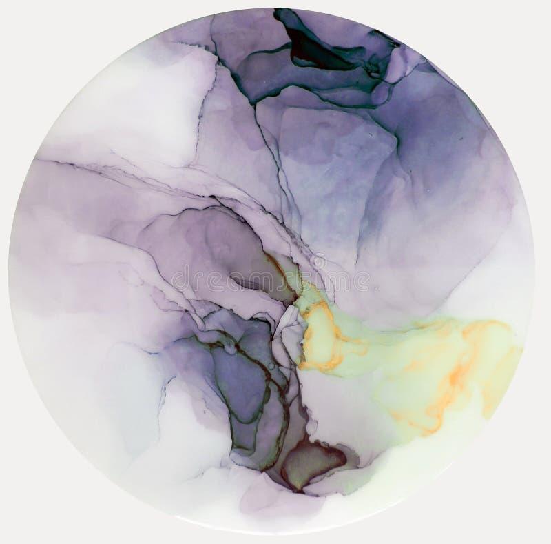 Tinte, Farbe, abstrakt Bunter abstrakter Malereihintergrund Hoch-strukturierte Ölfarbe Deta der hohen Qualität lizenzfreie abbildung