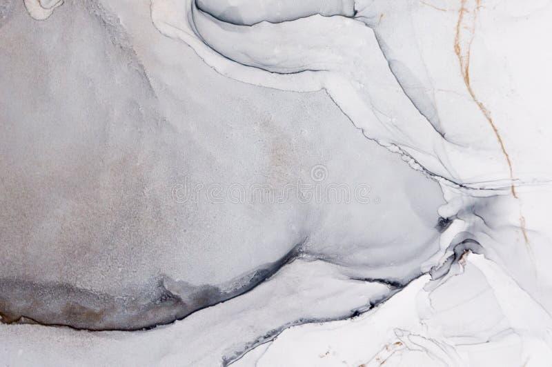 Tinte, Farbe, abstrakt Bunter abstrakter Malereihintergrund Hoch-strukturierte Ölfarbe DetaInk der hohen Qualität, Farbe, abstrak stock abbildung