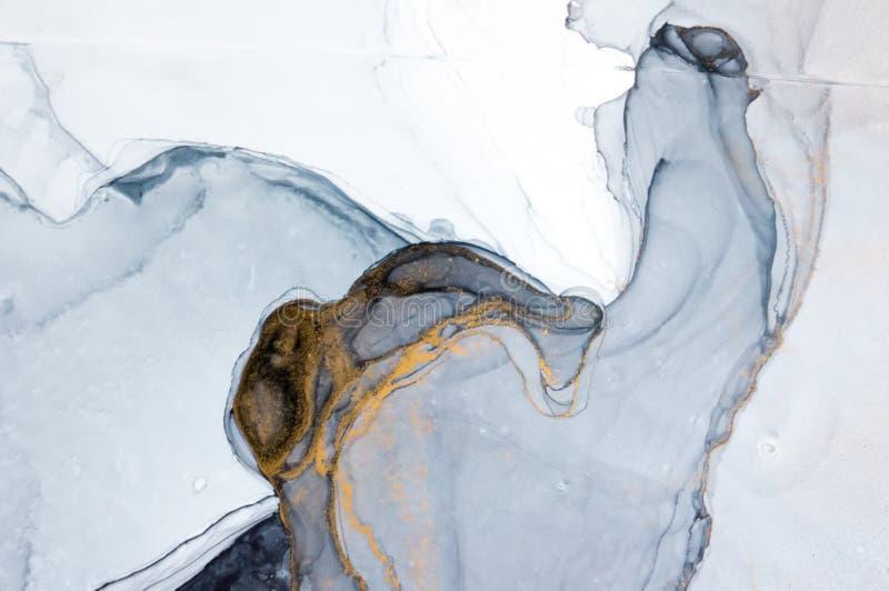 Tinte, Farbe, abstrakt Bunter abstrakter Malereihintergrund Hoch-strukturierte Ölfarbe DetaInk der hohen Qualität, Farbe, abstrak lizenzfreie abbildung