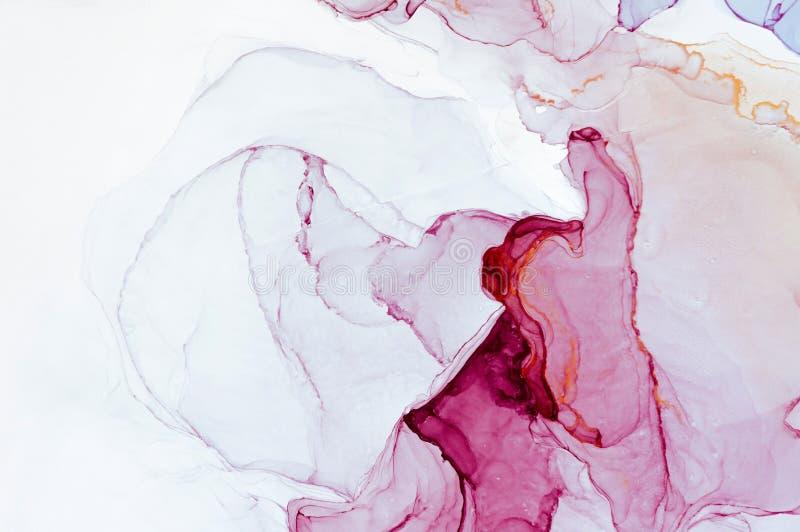 Tinte, Farbe, abstrakt Bunter abstrakter Malereihintergrund Hoch-strukturierte Ölfarbe DetaInk der hohen Qualität, Farbe, abstrak stockfotografie