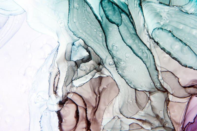 Tinte, Farbe, abstrakt Nahaufnahme der Malerei Bunter abstrakter Malereihintergrund Hoch-strukturierte Ölfarbe Deta der hohen Qua vektor abbildung