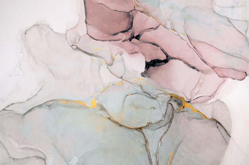 Tinte, Farbe, abstrakt Nahaufnahme der Malerei Bunter abstrakter Malereihintergrund Hoch-strukturierte Ölfarbe Deta der hohen Qua stockfoto