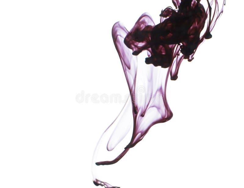 Tinte im Wasser stockbild