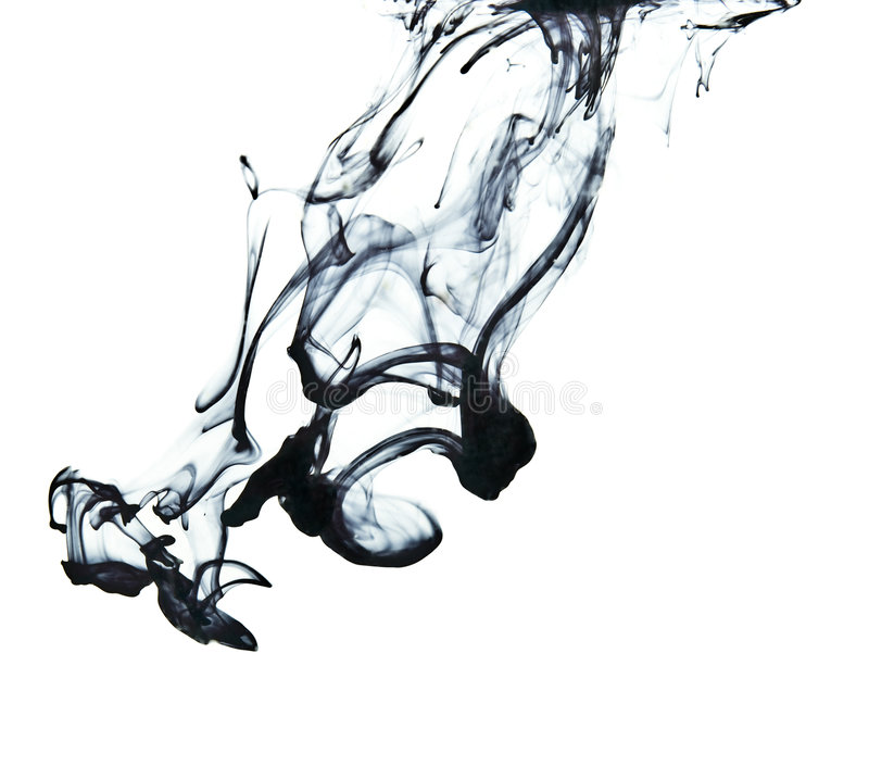 Tinte im Wasser