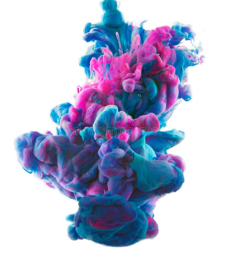 Tinte im Wasser stockfotografie