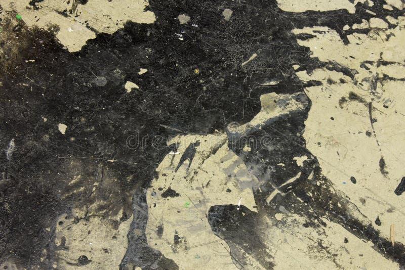 Tinte plätschern,/Flecke auf dem Bodenhintergrund stockbilder
