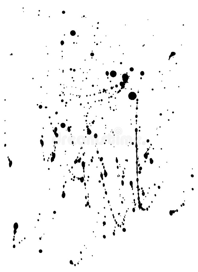 Tinte Spatters-3 (+clipping Pfad, XXL) vektor abbildung