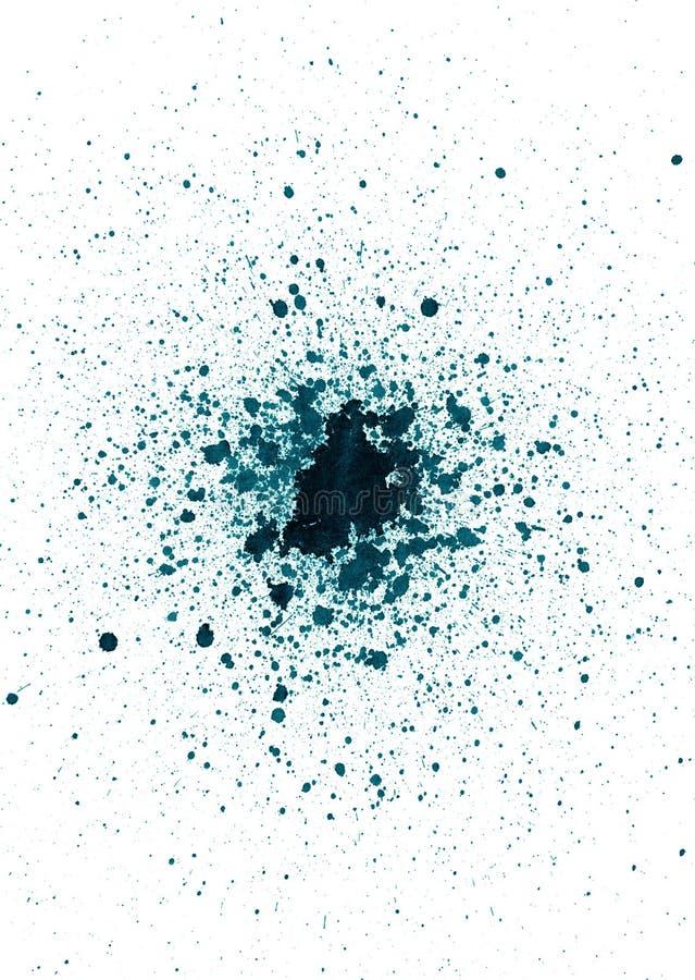 Tinte Splatter auf Weiß lizenzfreie stockfotografie