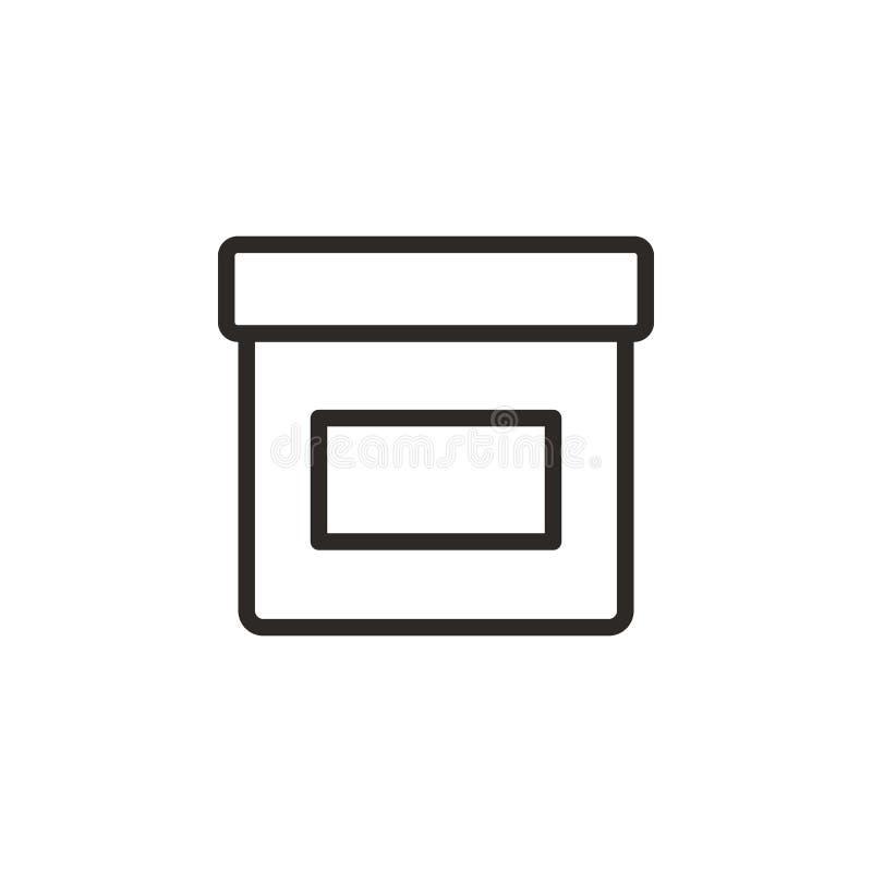 Tinte, tarro, icono del vector del pote r L?nea fina icono para el dise?o del sitio web y libre illustration