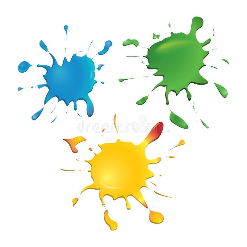 Tinten-Flecken. Vektor. lizenzfreie abbildung
