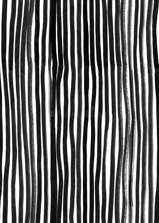 Tinten-nahtlose Linie Muster Abstrakter Druck mit Bürstenanschlägen Einfarbige Hand gezeichnete Beschaffenheit Künstlerisches til lizenzfreie stockfotografie