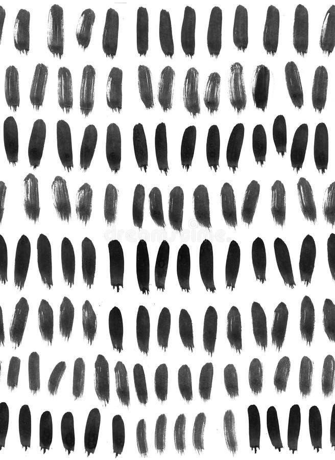 Tinten-nahtloses Muster Abstrakter Druck mit Bürstenanschlägen Einfarbige Hand gezeichnete Beschaffenheit Künstlerischer tileable lizenzfreie stockbilder