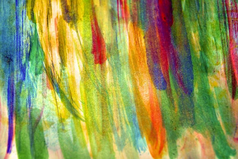 Tinten van de pastelkleur de zachte waterverf op abstracte achtergrond royalty-vrije illustratie