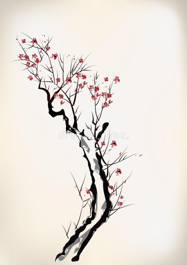Tintenartblüte lizenzfreie abbildung