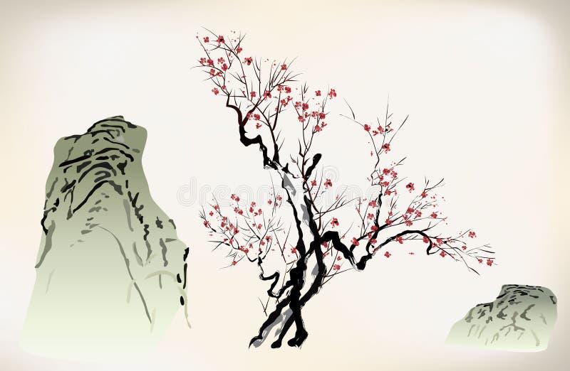 Tintenartblüte vektor abbildung