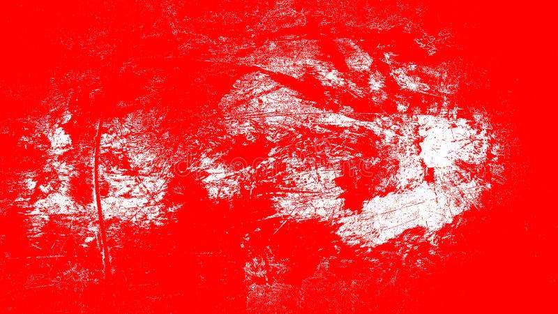 Tinteneffekt-Rot- und weißerhintergrund der abstrakten Schmutzwandillustration rauer für Netz und Druck lizenzfreie abbildung