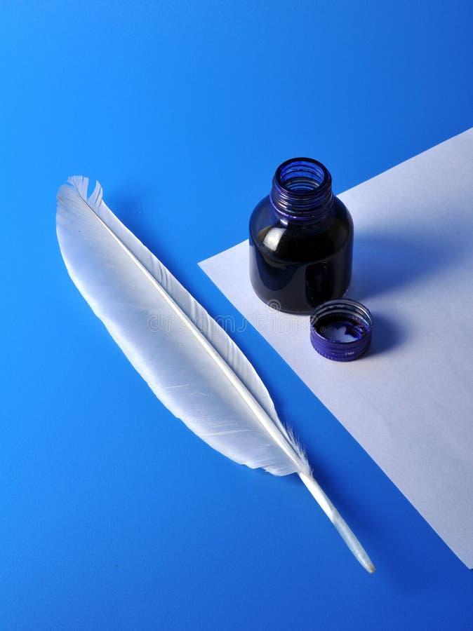 Tintenfaß und Spule lizenzfreies stockfoto