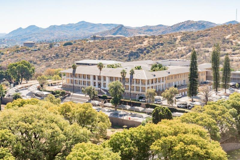 Tintenpalast, as construções namibianas do parlamento em Windhoek imagem de stock royalty free