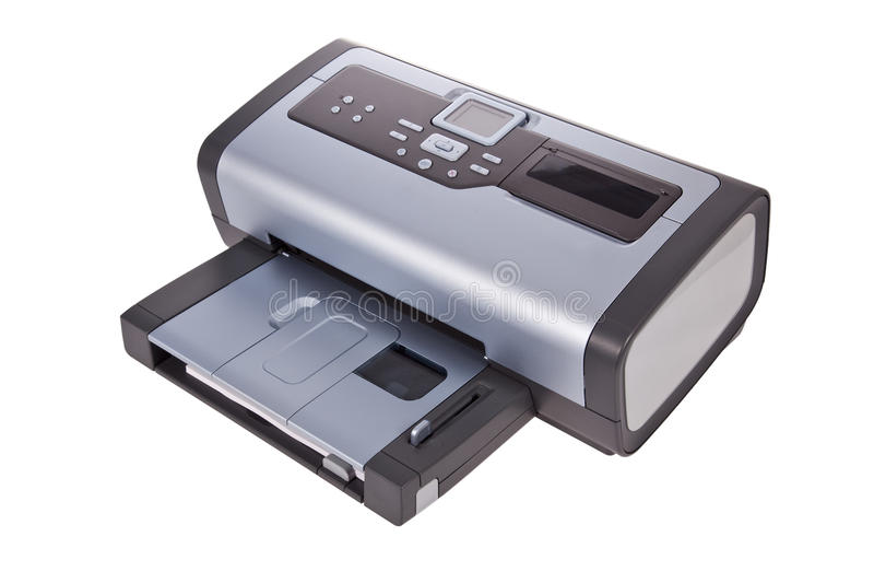 Tintenstrahldrucker getrennt auf Weiß lizenzfreies stockfoto
