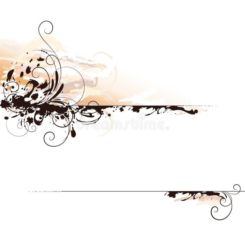 Tintenzeichenhintergrund vektor abbildung