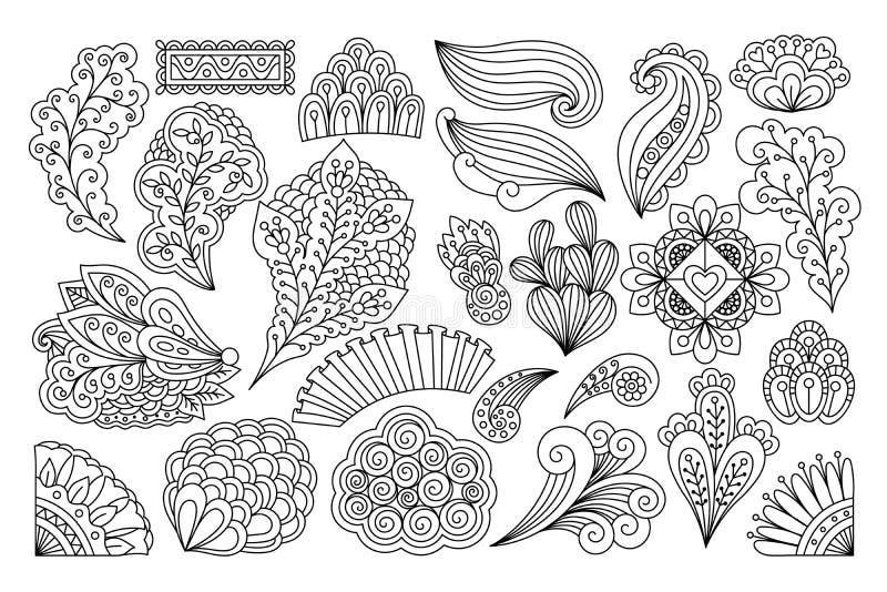 Tintenzeichnungsblumen vektor abbildung