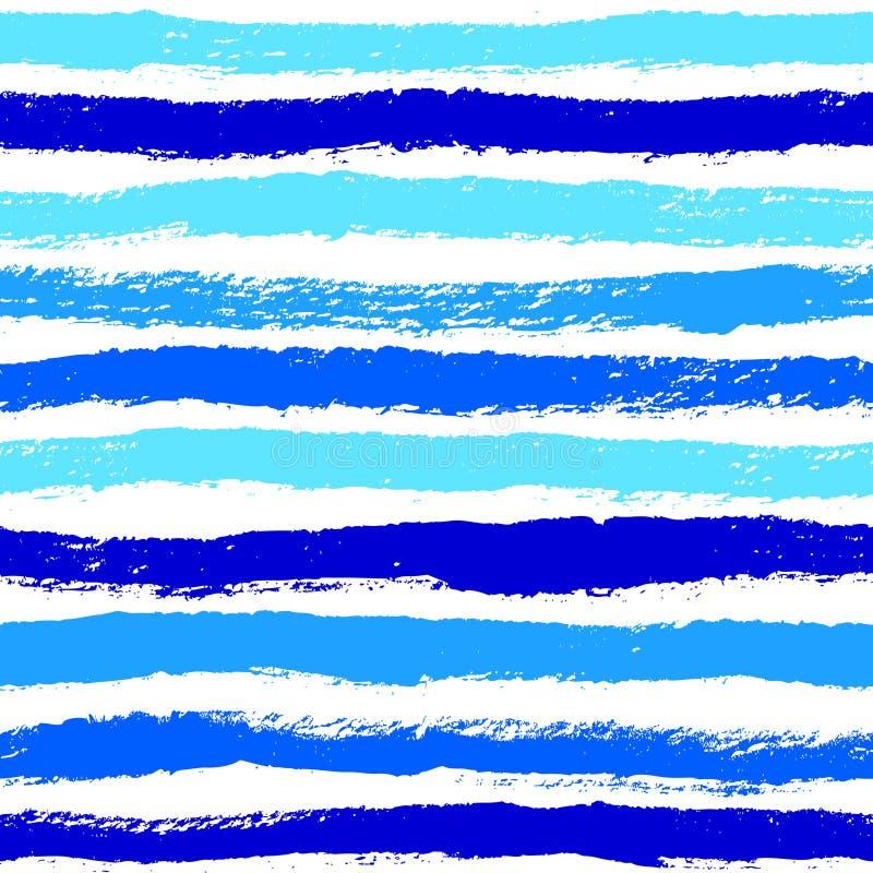 Tintenzusammenfassung streift nahtloses Muster ab Hintergrund mit künstlerischem s vektor abbildung