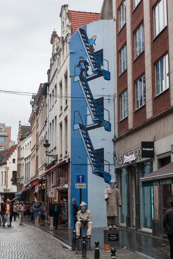 Download Tintin In Brussels Editorial Stock Image - Image: 28275434