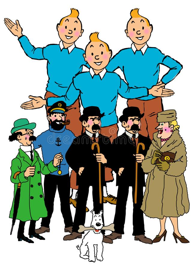 Tintin kreskówka