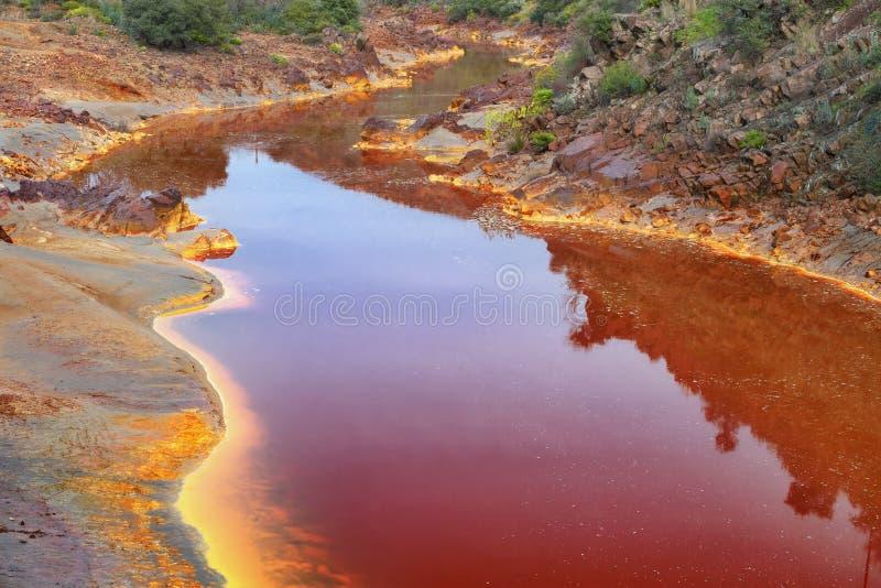 Tinto River, Huelva, Spanje stock afbeelding