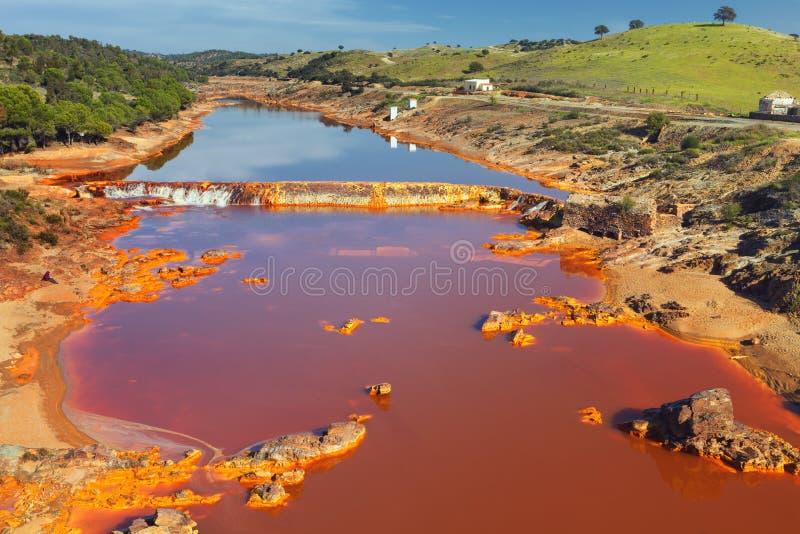 Tinto River, Huelva, Spanje stock fotografie