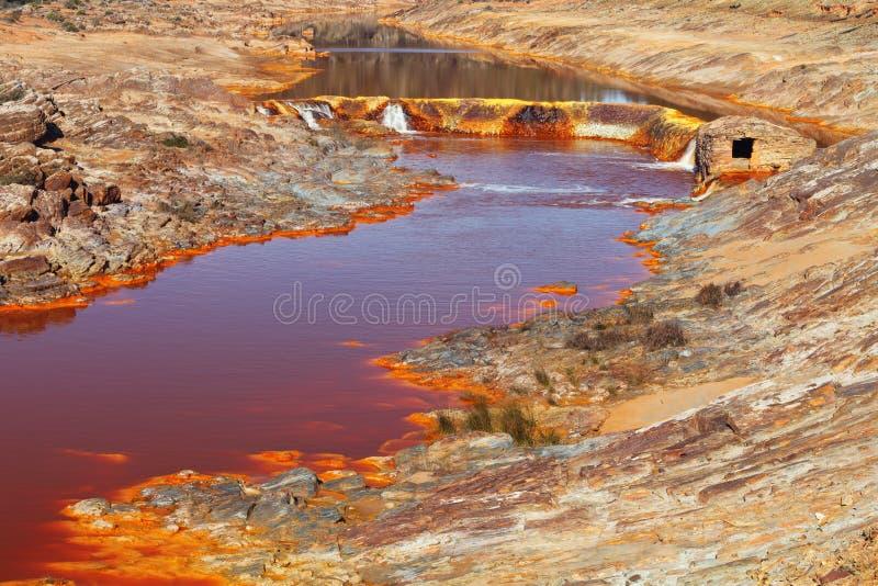 Tinto River, Huelva, Spanje royalty-vrije stock afbeeldingen