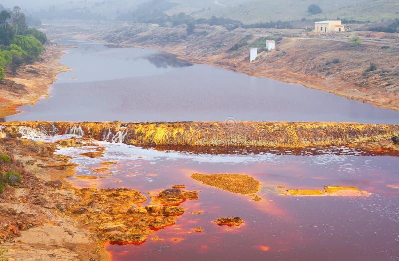 Tinto River, Huelva, Spanje stock afbeeldingen
