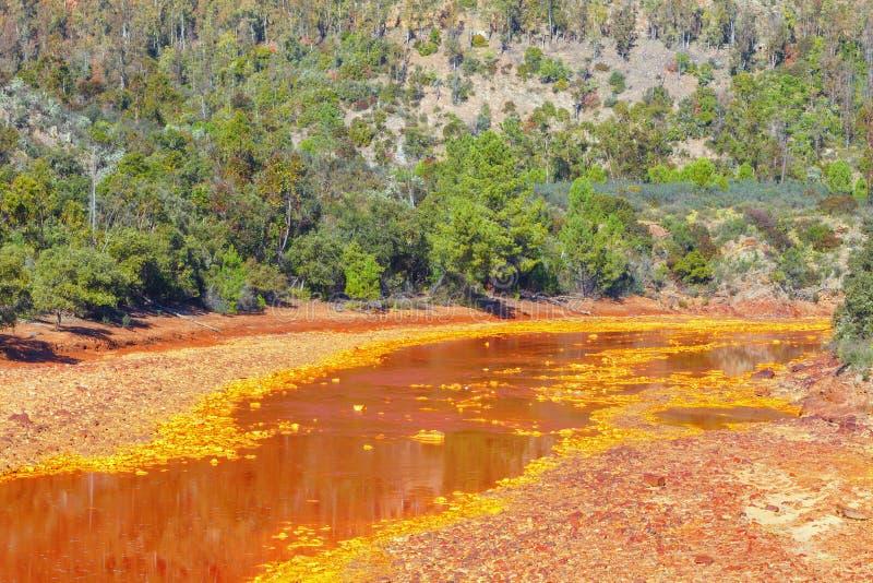 Tinto River, Huelva, Spanje royalty-vrije stock foto's