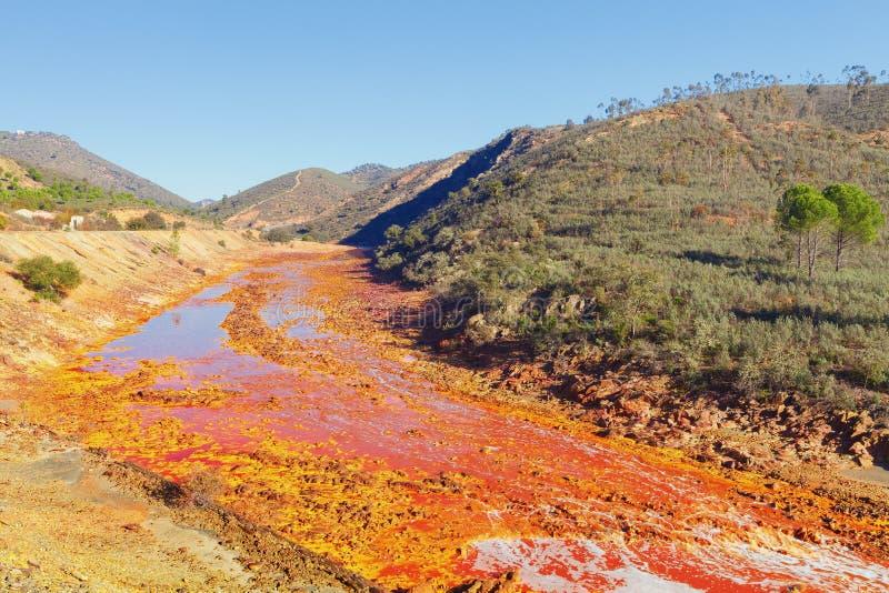 Tinto River, Huelva, Spanje royalty-vrije stock afbeelding