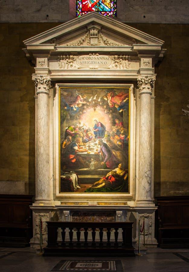 Tintoretto - Ultima cena 1592-1594 oil on canvas royalty free stock photos