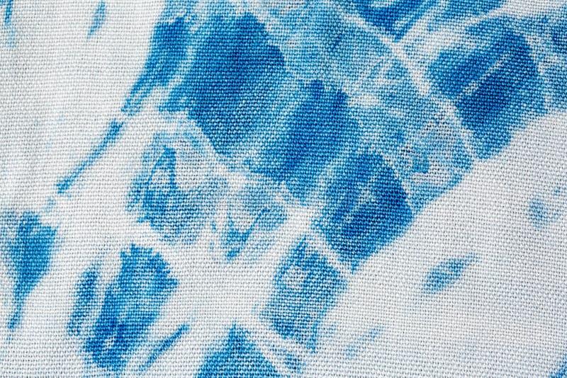 A tintura do la?o do ?ndigo da tela como um fundo e uma textura fotografia de stock royalty free