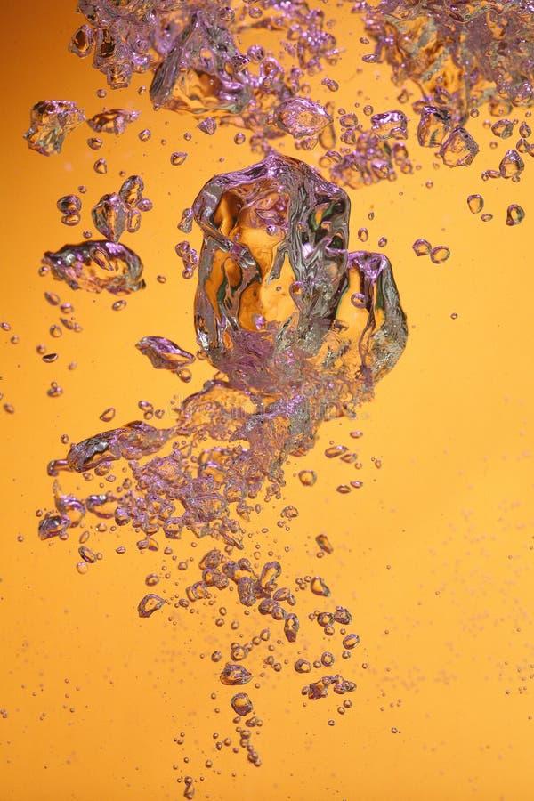 Tiny air bubbles rising stock image