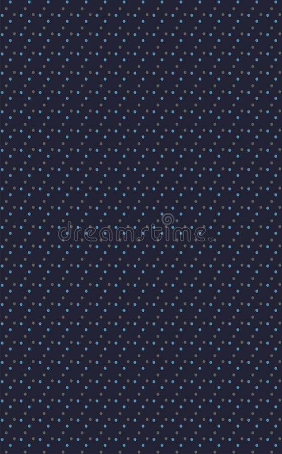 Tiny blasted dots of 2 colours placed in unique different way on navy background. In this design sky & grey blasted dots are placed in different unique way on royalty free illustration