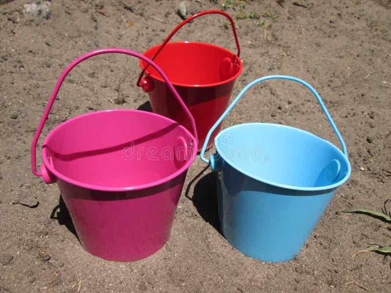 Tiny Buckets. royalty free stock images
