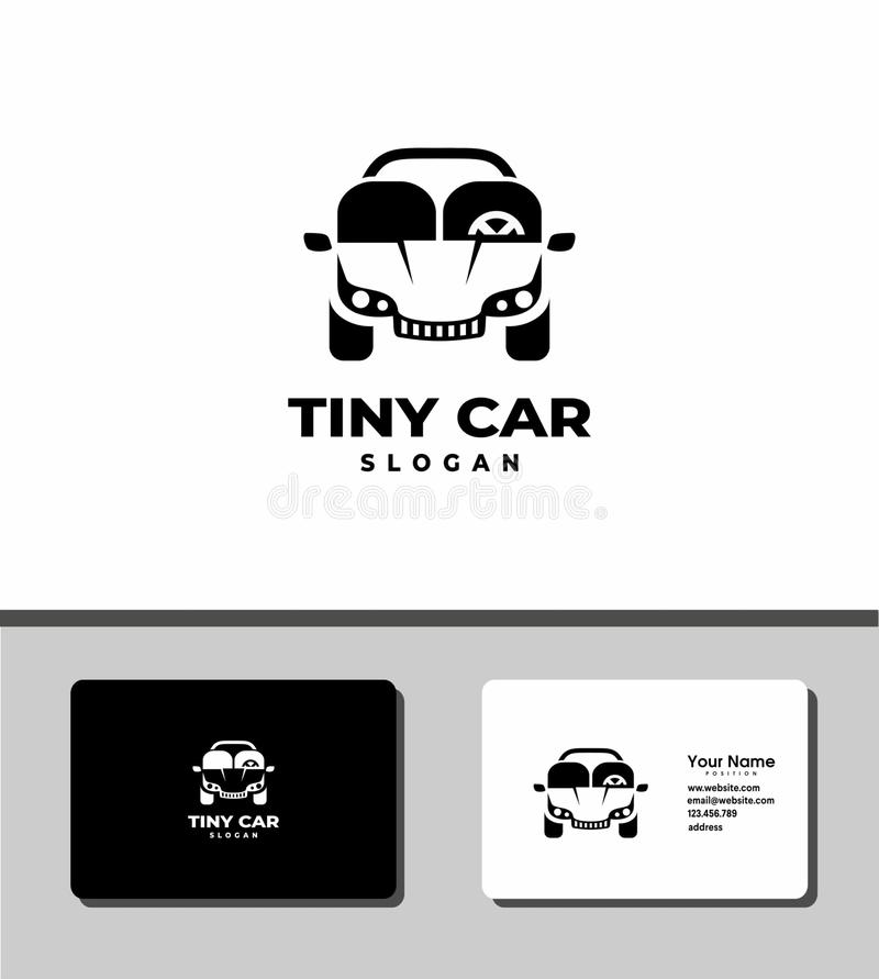 Tiny car logo royalty free stock photo