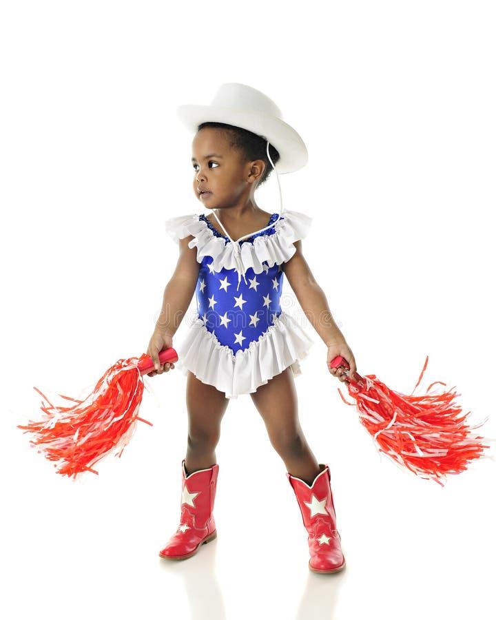 Tiny Cheering Patriot royalty free stock photos