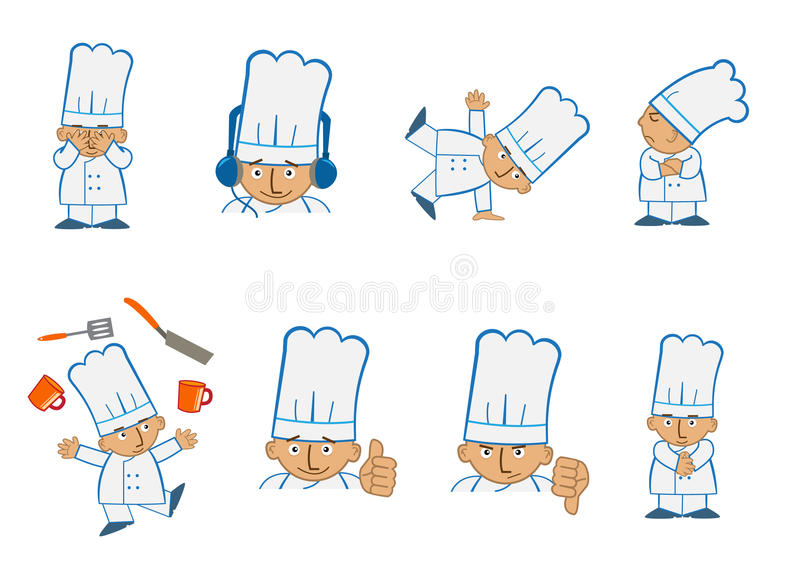 Download Tiny Chef Juggle stock vector. Illustration of clip, feelings - 43838707