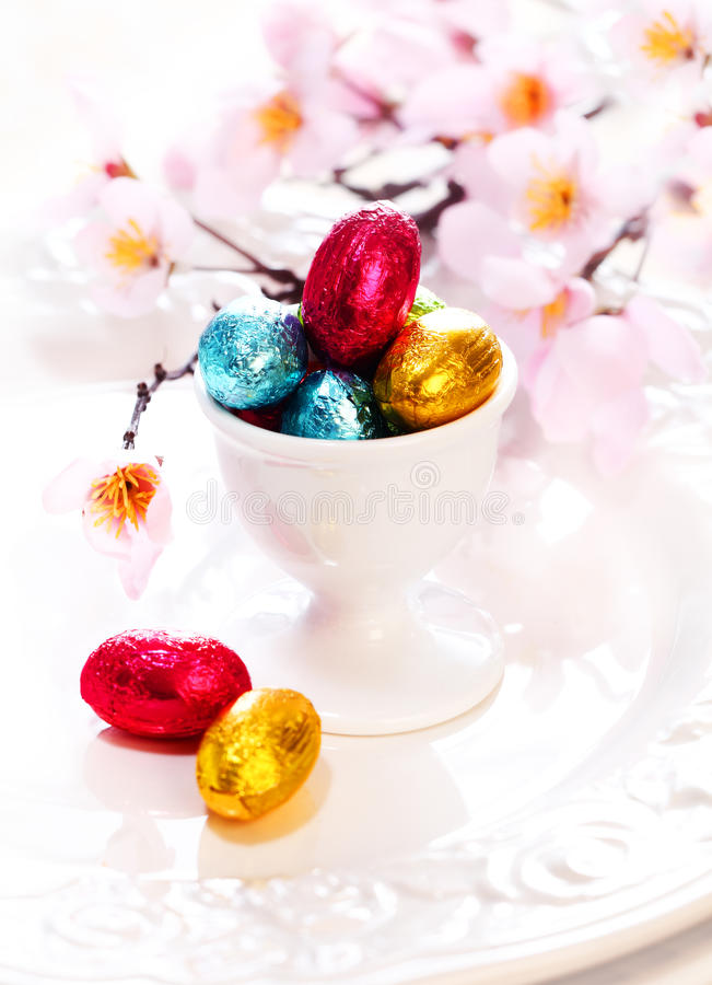 Download Tiny Chocolate Easter Eggs stock photo. Image of decorative - 23814660