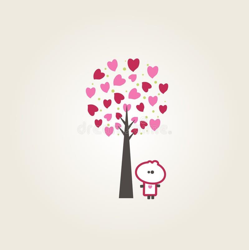 Download Tiny dude heart tree stock illustration. Illustration of card - 14541852