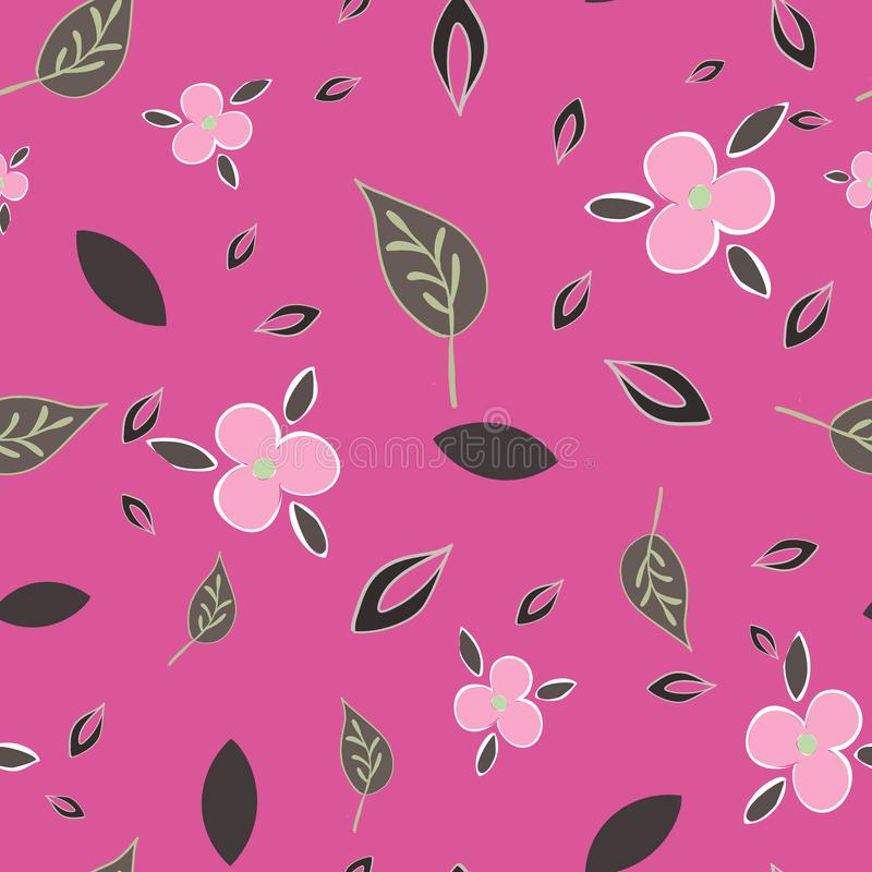 Tiny Garden (Tiny Garden Floral Geometric Collection Repeat Pattern) Stampa vettoriale serie royalty illustrazione gratis
