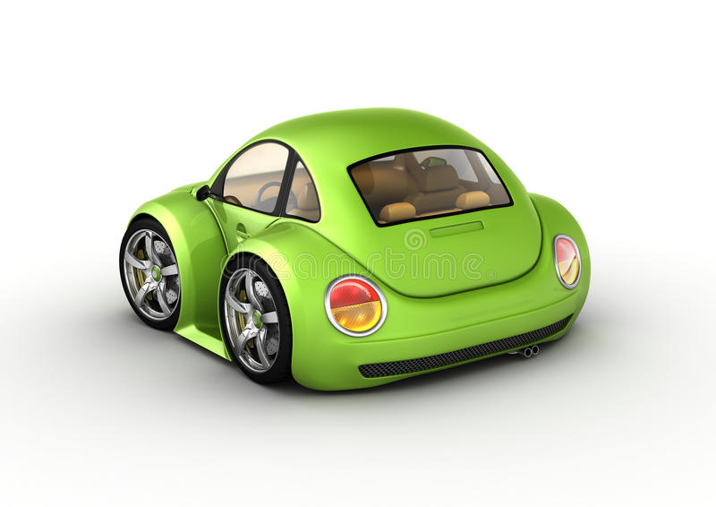 Tiny green car royalty free illustration
